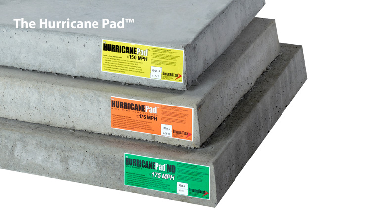 The Hurricane Pad™ Concrete Equipment Pad
