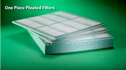 One Piece Pleated Filters