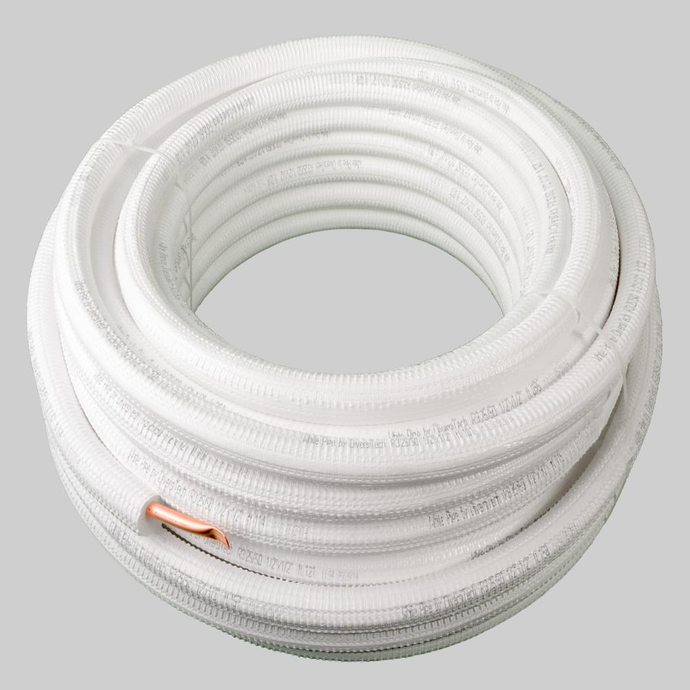 White Pipe Pre Insulated Refrigerant Line Diversitech